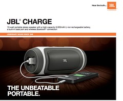 "Harman ""JBL Charge"" Yellow Flag Caution KemptonTestLab - pix 00 - JBL Charge promo pix"