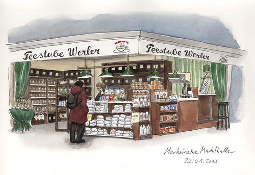 Teestube Werler, Marheineke Markthalle by KatrinMerle