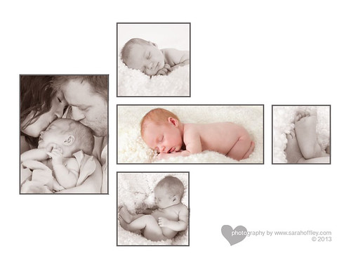 Wall Portrait Multi Image Layout 2013 by Sarah Offley Photography