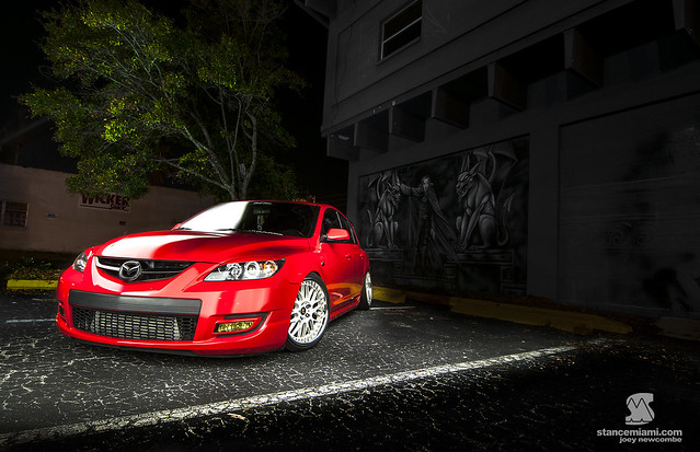 Mazda Speed At Night FrontWM