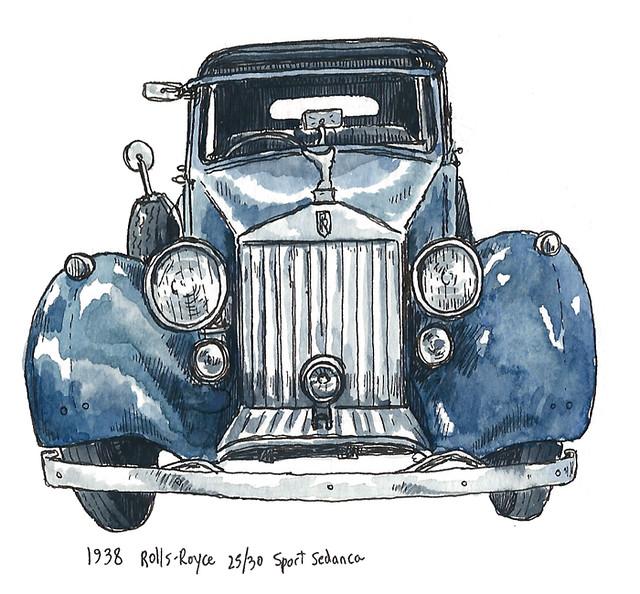 1938 rolls royce25-30 sport sedanca