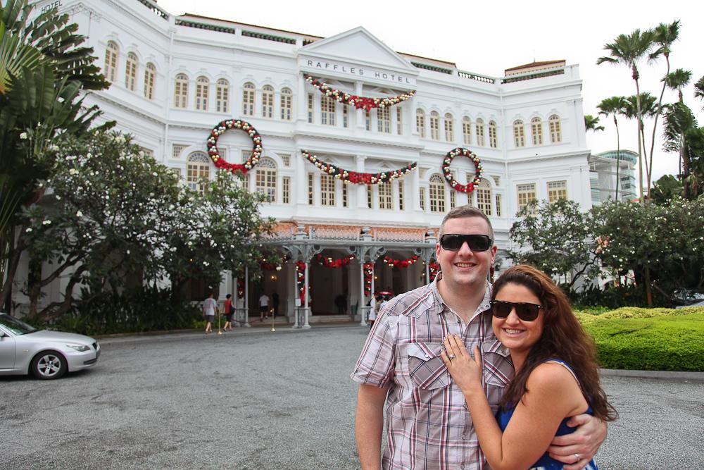 Raffles Hotel at Christmas