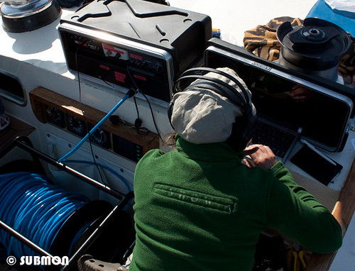Estudio de cetáceos mediante acústica, con hidrófono
