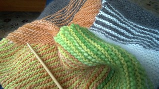 multicolor knitted cowl