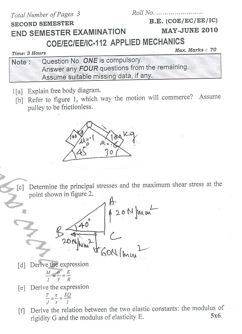 NSIT: Question Papers 2010 – 2 Semester - End Sem - COE-EC-EE-IC-112