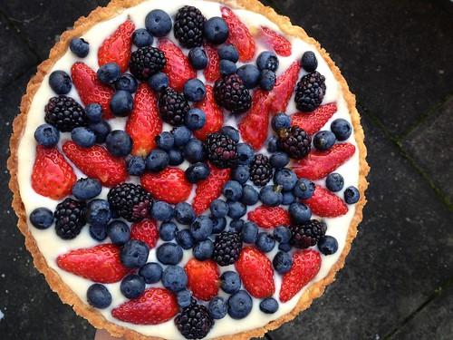 Strawberry, blackberry, blueberry tart