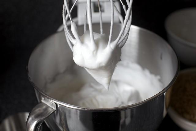 whipping the egg whites