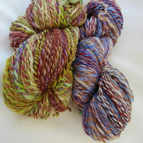 Finished and photo'd 2 of my #epic #mashup skeins #handspun #spinning #ashford