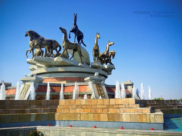 The Monument To 10 Years Of Independence, Berzengi, Ashgabat, Turkmenistan