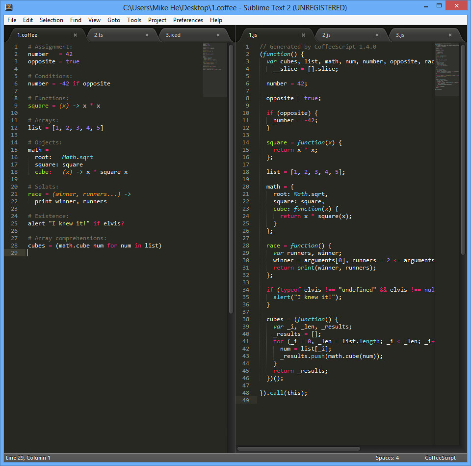 sublime code preview ui