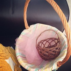 Got out our Easter baskets and found this nested inside, of course!  The road goes on forever and the pink tulle never ends.