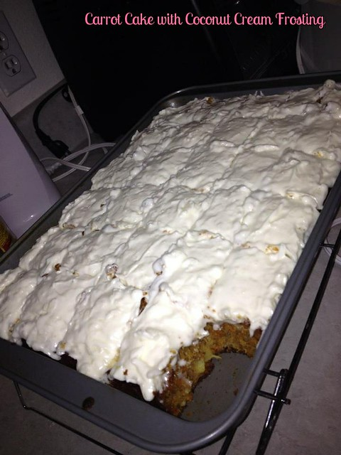 Carrot Cake with Coconut Cream Frosting