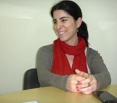 Elena Manzano, durante la entrevista