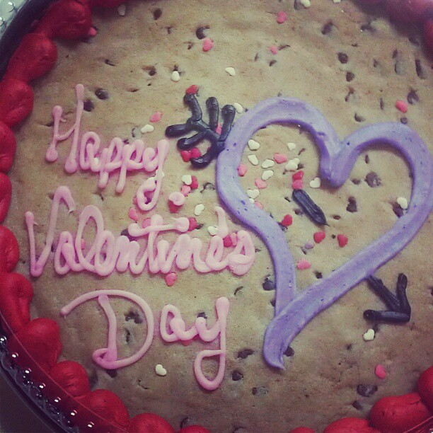 @annieb_1113 & I decided to celebrate early with cookie cake!