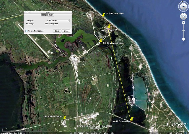 STS-131 Launch Viewing Location