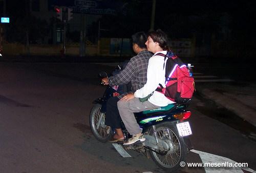 En moto taxi fins a Can Tho