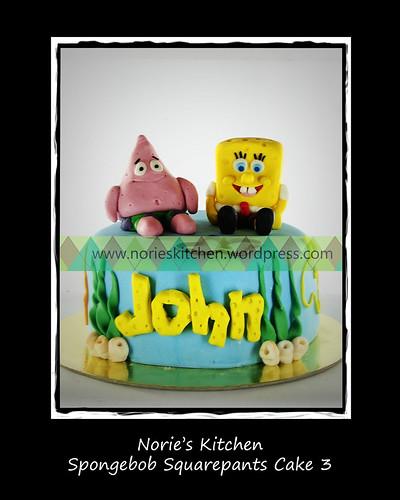 Norie's Kitchen - Spongebob Squarepants Cake 3 by Norie's Kitchen