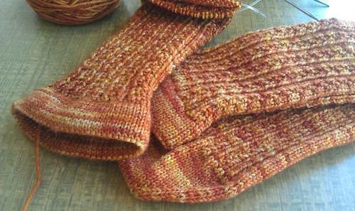 Treacle Hedgerow socks.