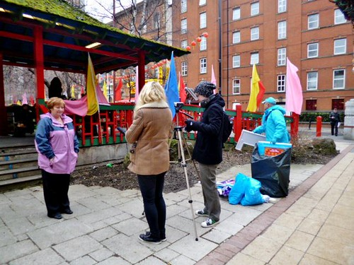 Street Interview, Pavilion, China Town, Manchester by Angela Seager
