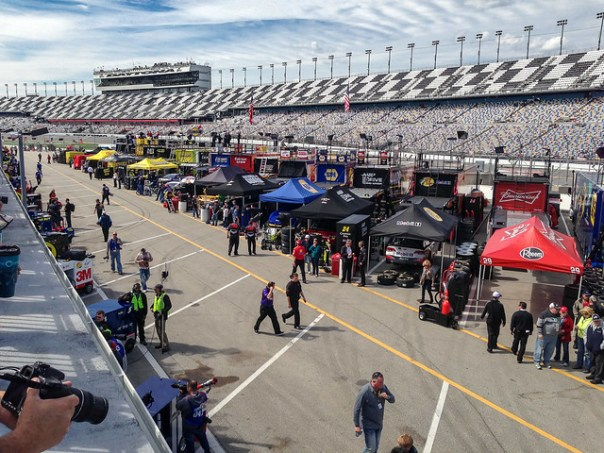Pit Road and the grandstands