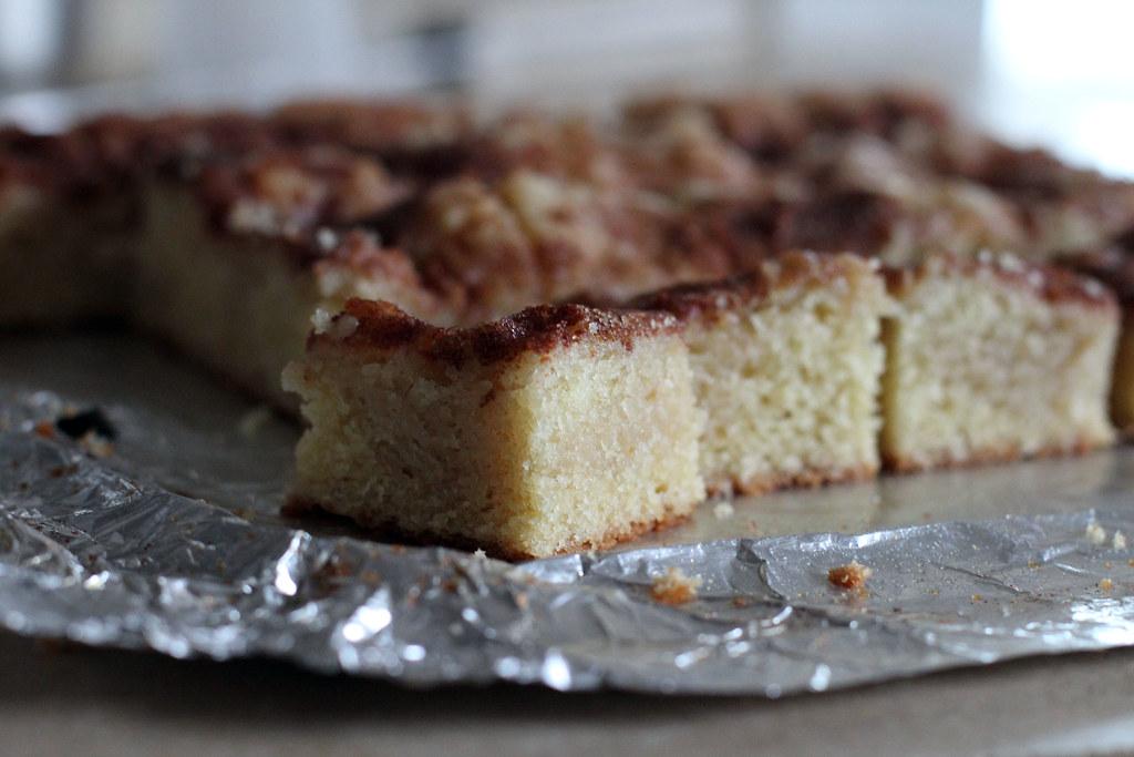 gooey cinnamon cake squares