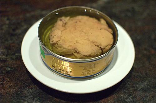Cod liver in own oil