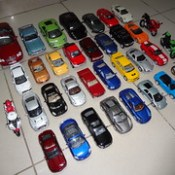 My Die-Cast Cars & Bikes Collection (Front Aerial Overview)