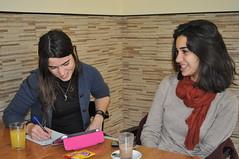 Con Nelia Bonillo durante la entrevista