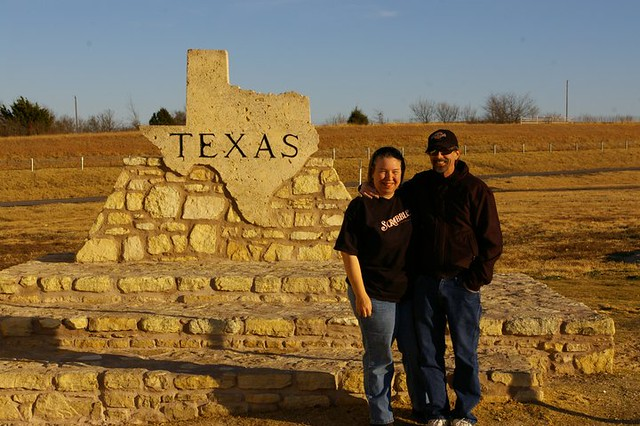 Jon and Terry at the North Texas Travel Info Center on I-35