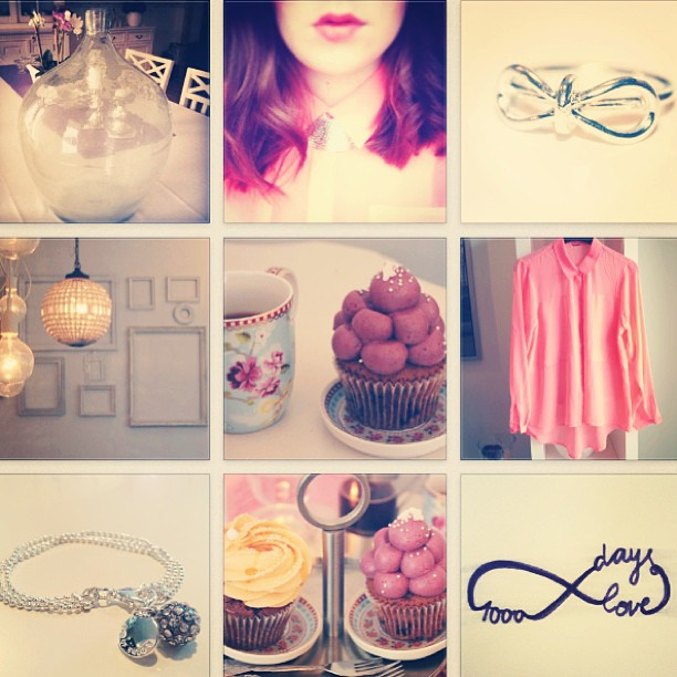 #collage #instadaily #cupcake #infinite #ring #braclet #shirt #apricot #coral #interior #instaweek