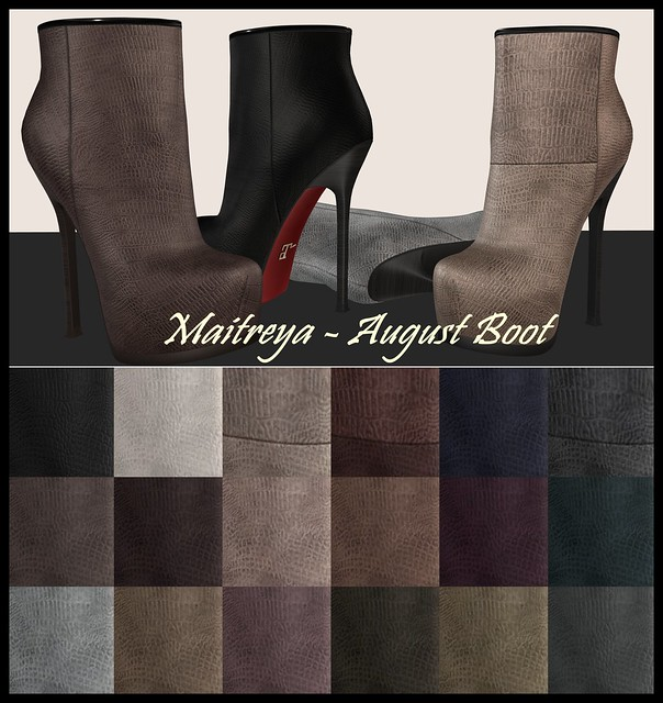 Maitreya ~ August Ankle Boot Colors