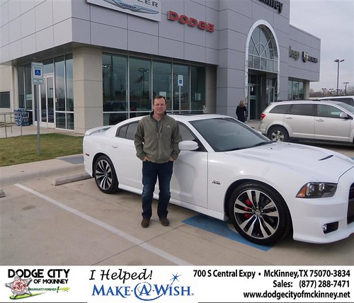 Congratulations to JAMES J MATTHEWS III on the 2013 DODGE CHARGER by Dodge City McKinney Texas