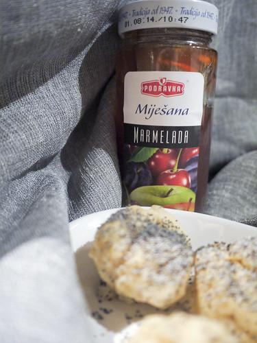 Parené buchty s zmiešaný džem - Panini al vapore con marmellata mista (buonissima) (it)