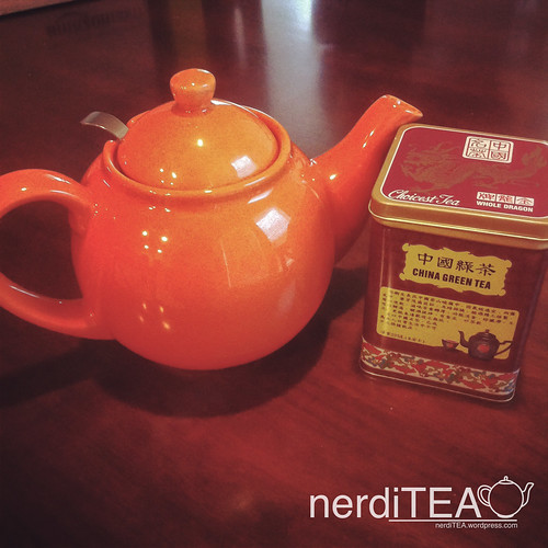 My orange teapot.
