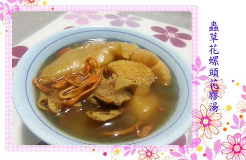 韋太烹飪教室: Fissler 2013- 每週食譜介紹 (22) - 蟲草花螺頭花膠湯 (內附食譜)