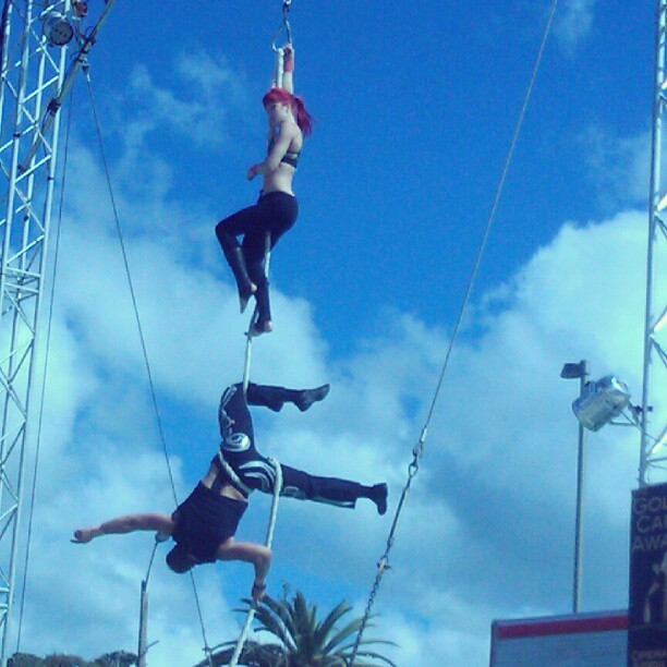 Watching acrobats and magical performances. #fusecircus