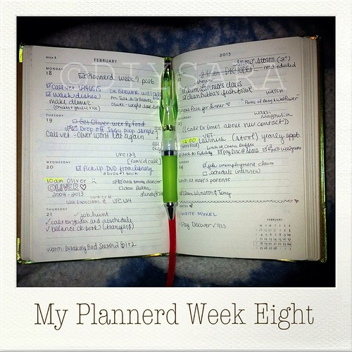 My Plannerd Week Eight