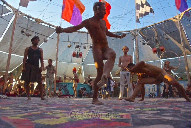 naturist capoeira 0106 Burning Man 2012, Black Rock City, NV, USA