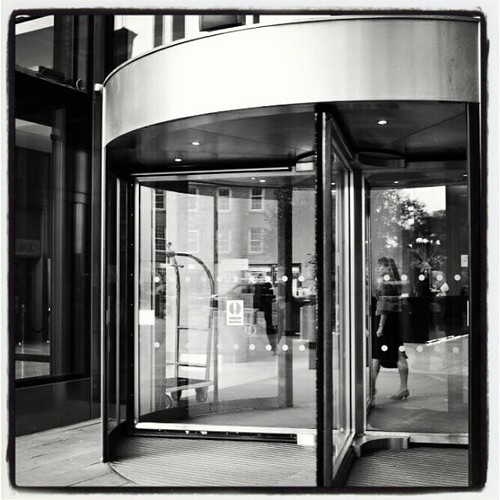 Beetham Tower / Revolving door 02 by Angela Seager
