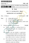UPTU B.Tech Question Papers - TME-402 - Kinematics of Machines