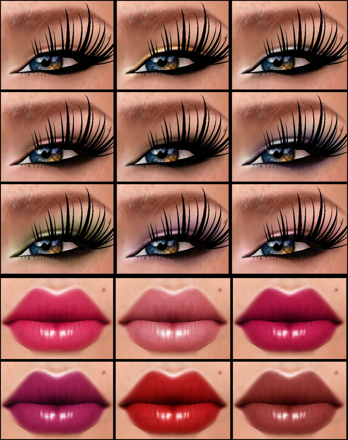 Asia Lips and Shadow-Liner