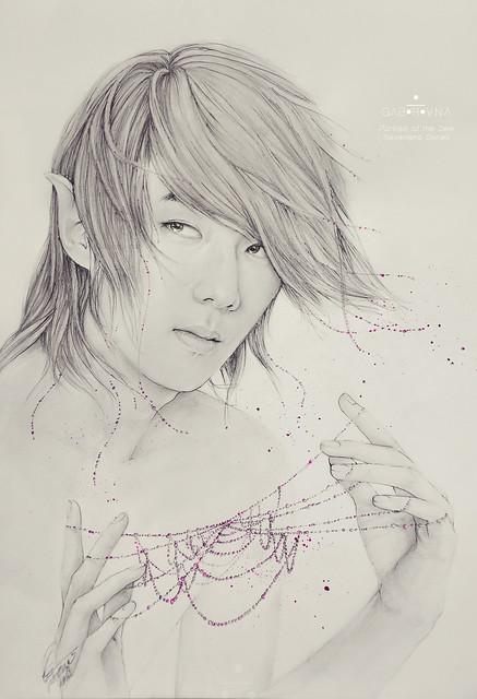 Portrait of the Dew (Sehun fanart)