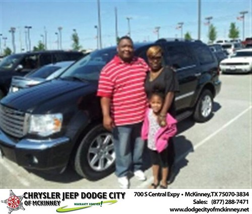 Dodge City of McKinney would like to say Congratulations to Daniel Guidry Jr on the 2008 Chrysler Aspen by Dodge City McKinney Texas