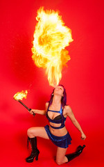 fire breathing fire breather fire performer new york fire dancer