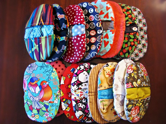 Finished Pinch Pot Holders