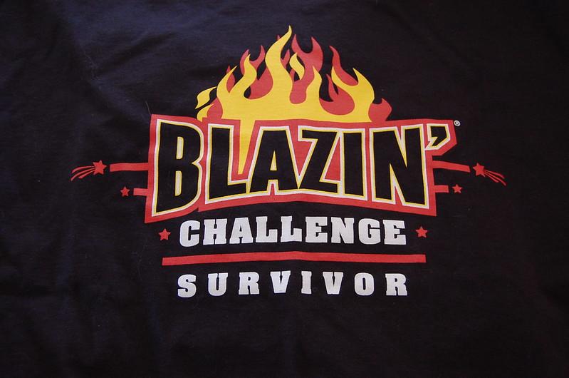 Mike Taking the Blazin Challenge