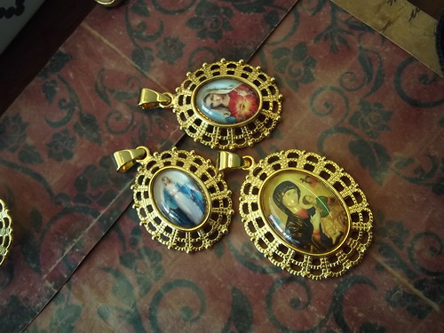Marian Images as glass dome pendants