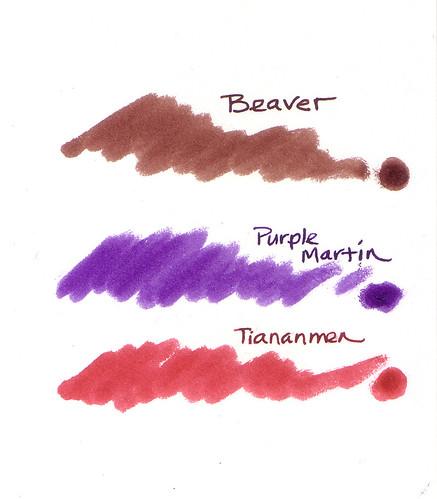 Noodler's Beaver, Purple Martin, Tiananmen