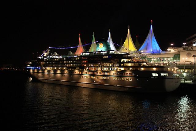 Amadea, cruise ship, Phoenix Reisen, Canada Place, Vancouver, BC, Canada