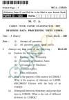UPTU MCA Question Papers - MCA-125(O) - Business Data Processing with Cobol